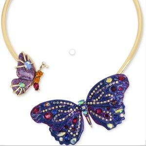 Betsey Johnson  butterfly collar Necklace